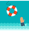 helping buoy vector image