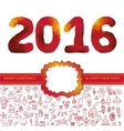 New year Iconslabelpolygon numbersRed vector image