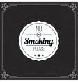 Please no smoking label vector image