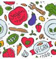 vegetarian food logo symbol vegan eco vector image