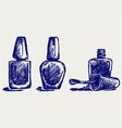 Nail polish vector image