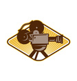 Vintage Movie Film Camera Retro vector image