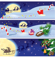 Set of Christmas and New Year horizontal banners vector image vector image