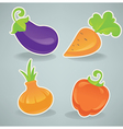 glossy cartoon vegetables vector image vector image