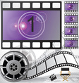 Movie countdown and reel vector image