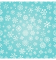 Winter Snow Flakes Doodle Seamless Background vector image vector image