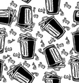 trash can pattern vector image vector image