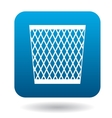 Mesh trash basket icon in simple style vector image