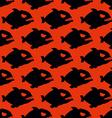 Aggressive seamless pattern from Piranha Fish vector image