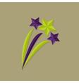 Festive Stars Flat Icon vector image