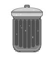 isolated pixelated trashcan vector image