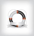 Life Buoy and ribbon vector image