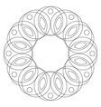 Mandala round ornament Coloring page vector image