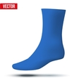 Realistic layout of blue sock A simple example vector image