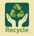 recycle design in green colors vector image