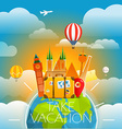 Vacation travelling concept travel with dif vector image vector image