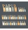 Vintage paper font vector image vector image