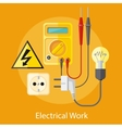 Electrical Work Concept vector image