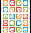 20 characters in square icons set 2 vector image vector image