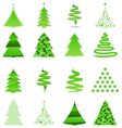 356 - christmas treabstract christmas trees vector image vector image