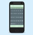 Smartphone calendar flat vector image