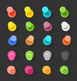 Color pins flat design collection elements clip-ar vector image vector image