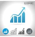 economy blue icon vector image