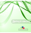 Abstract green curved lines vector image
