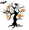 Halloween Icon Tree vector image
