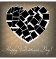 Instant photos in heart shape vector image
