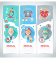 Medical doctors portraits on banners vector image