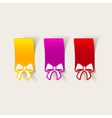 realistic design element ribbon vector image