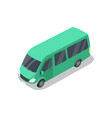 shuttle van isolated isometric 3d icon vector image