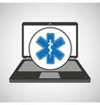 notebook pc service medical symbol vector image