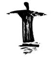 Statue Cristo Redentor vector image