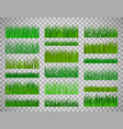 grass border set on transparent background vector image