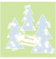 Merry Christmas card with snow and christmas trees vector image vector image