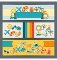 Travel and tourism horizontal banners vector image