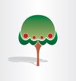 family tree symbol design vector image