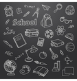 School doodle on a blackboard background vector image vector image