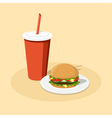 burger and cola vector image