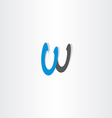 letter w black blue sign symbol icon logotype vector image