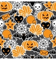 Halloween Pumpkins Background vector image vector image