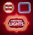 christmas lights frames set2 vector image