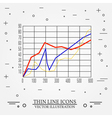 Graphs thin line design vector image