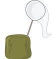Net and satchel vector image