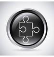 Puzzle button Silhouette icon design vector image
