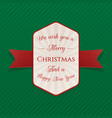 realistic festive merry christmas banner vector image