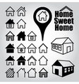 Set of home icons vector image