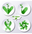 Set of stickers icons environmental protection vector image